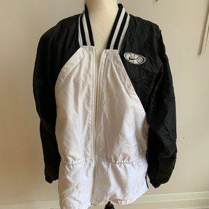 Vintage Nike basketball Black white nylon jacket